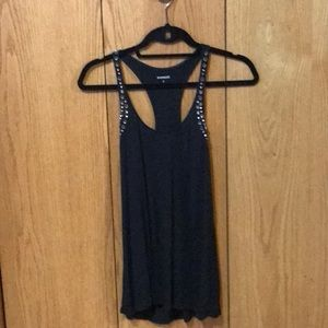 Express embellished tank top. Size S